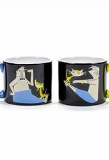 Serax Mugs 'Stay Fit', set of 2, Fiep Westendorp