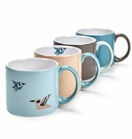 Mugs 'Birds', set of 4, Fiep Westendorp