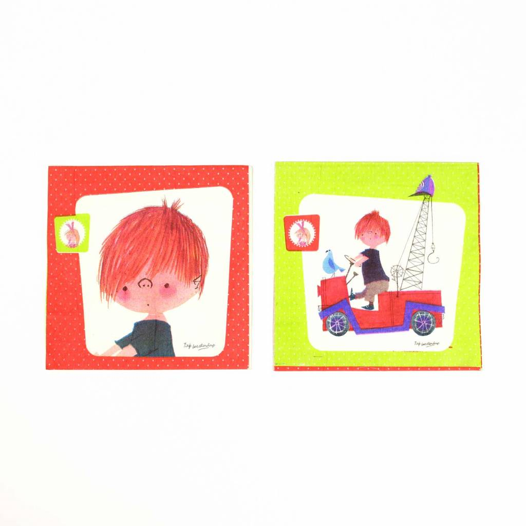 Fiep Amsterdam BV Paper Napkins 'The Red Tow Truck'