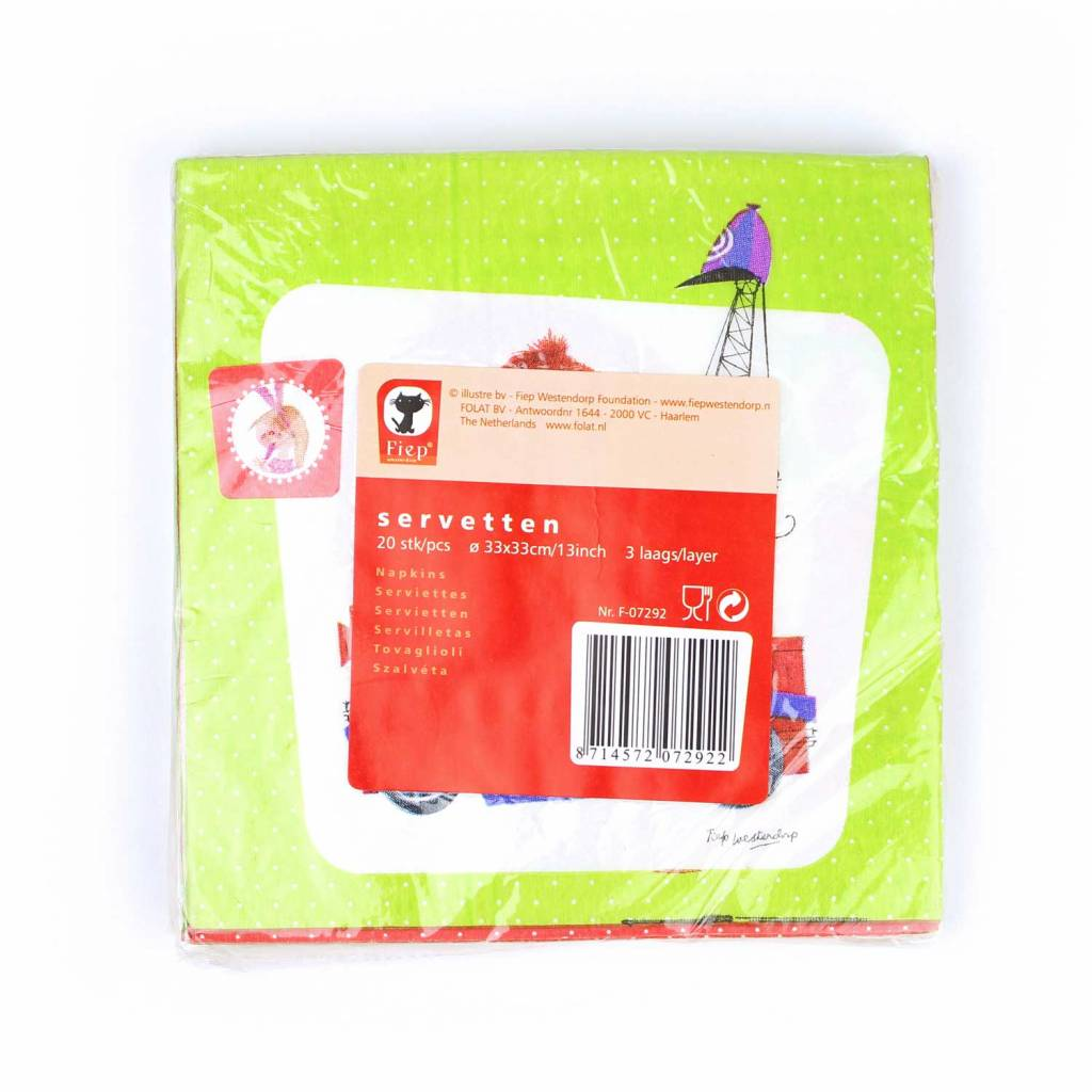 Fiep Amsterdam BV 'Tow Truck Pluck' Paper Napkins