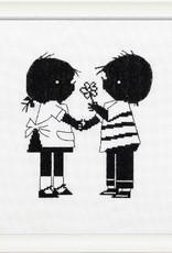 Handwerkpakketten Cross-stitch Set 'Jip and Janneke' - flower