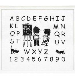 Handwerkpakketten Borduurpakket ABC Jip en Janneke, alfabet - letterlap
