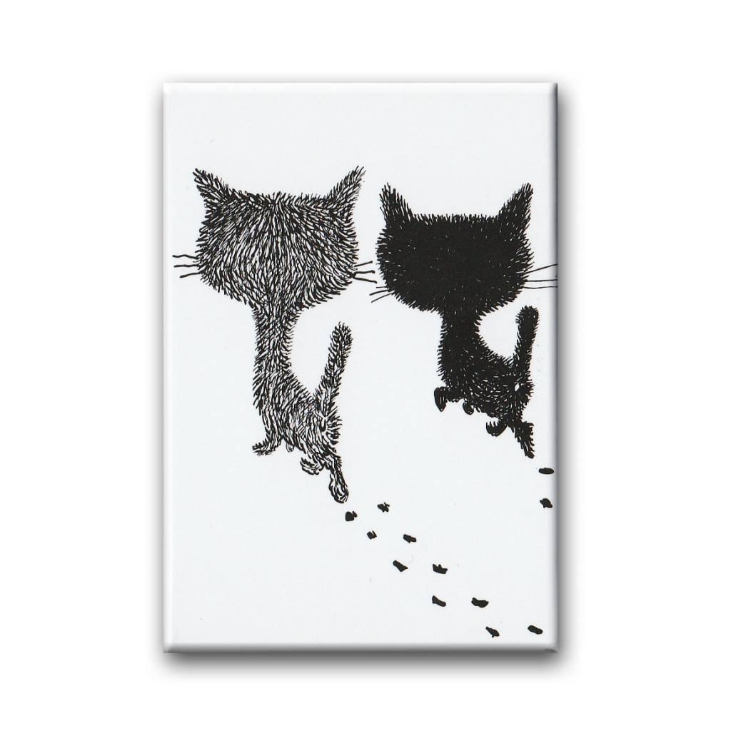 Bekking & Blitz Pim and Pom walking, Fridge Magnet. Illustration by Fiep Westendorp
