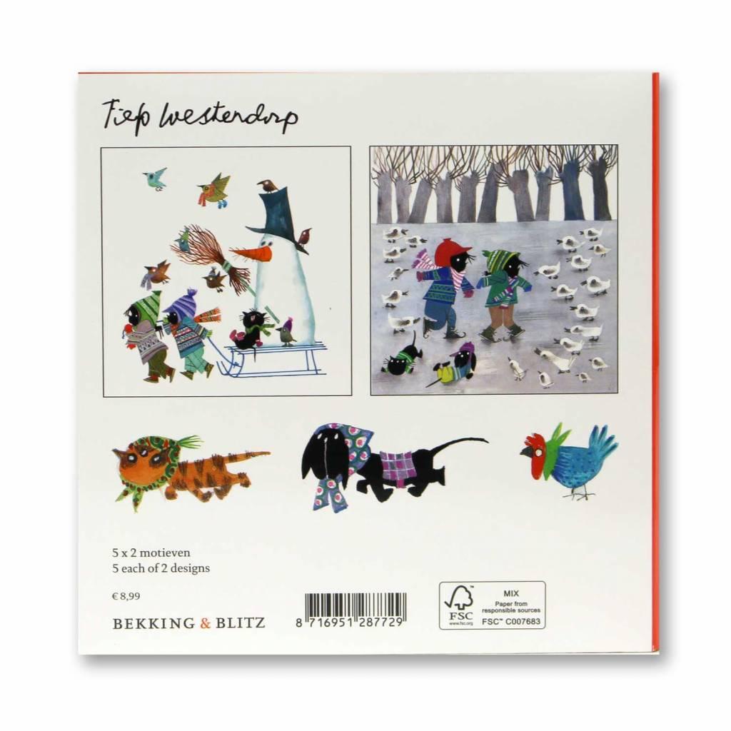 Bekking & Blitz Card Wallet, Jip and Janneke, Winter - Fiep Westendorp
