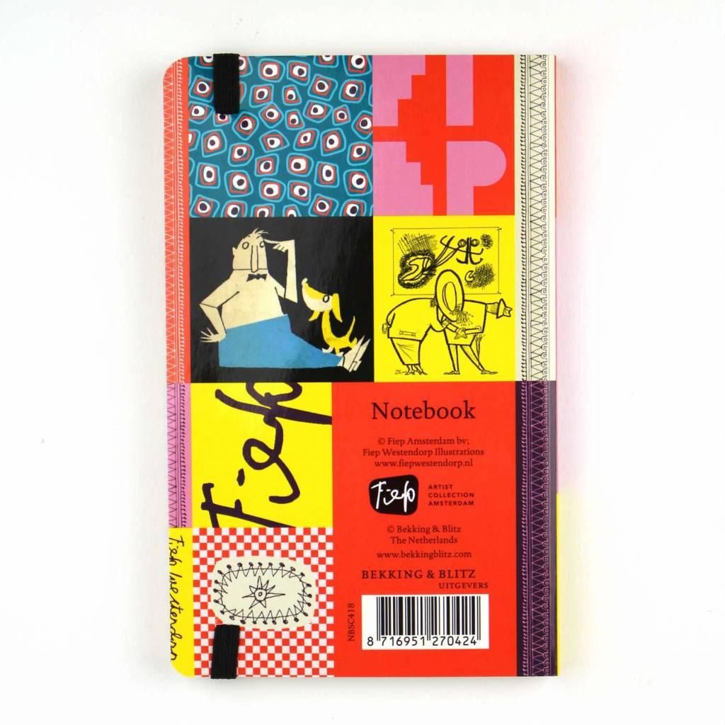 Bekking & Blitz Softcover Notebook A6,  'Colourful Fifties' - Fiep Westendorp
