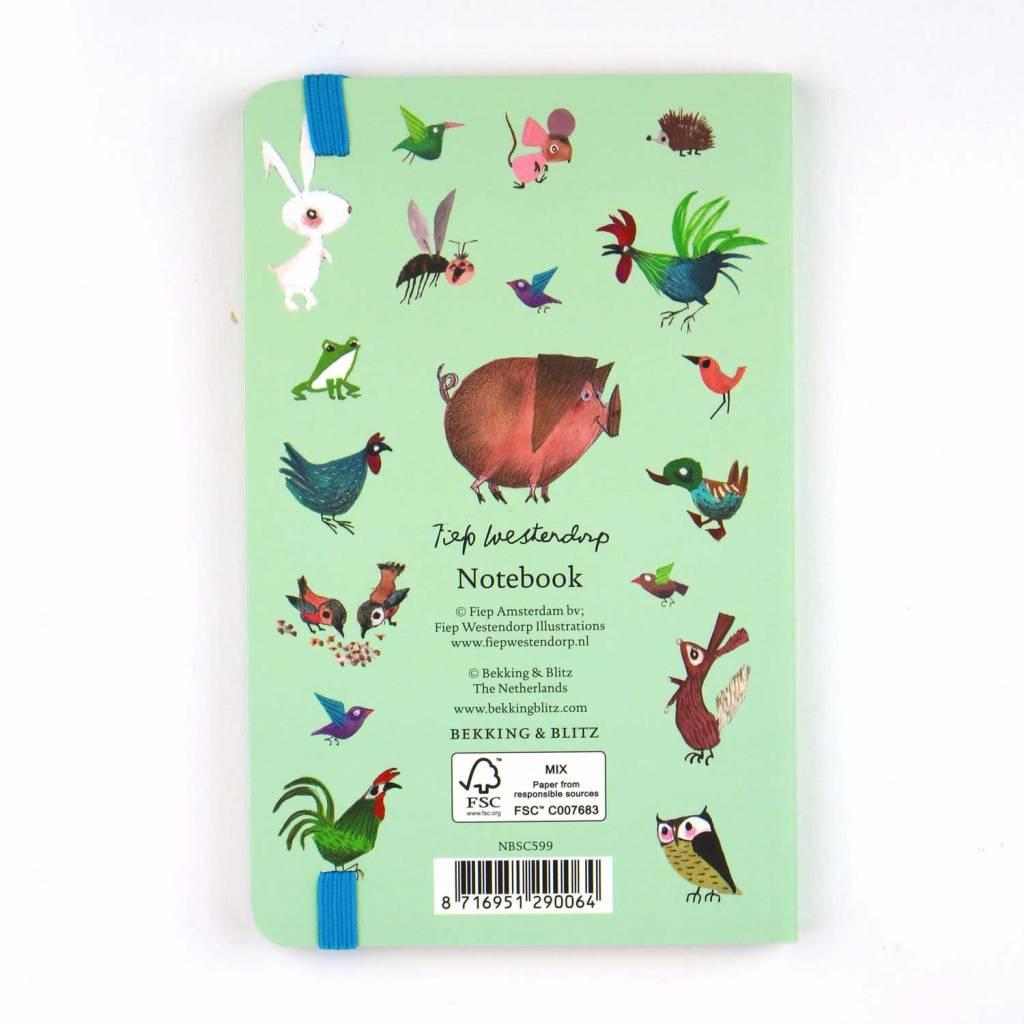 Bekking & Blitz Softcover Notebook A6,  'Animals' - Fiep Westendorp