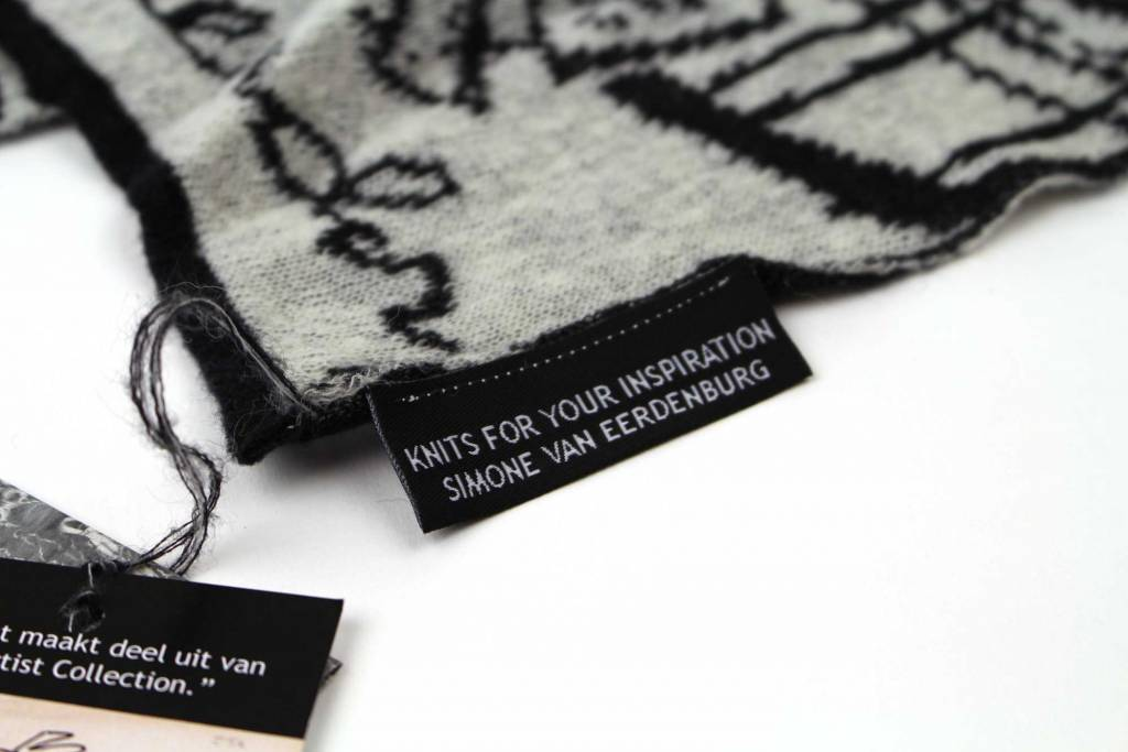 Knits For Your Inspiration Sjaal 'Dominee'  - Fiep Westendorp