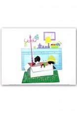 Art Unlimited Jip en Janneke Poster, Jip en Janneke spelen in een doos, 30 x 40 cm