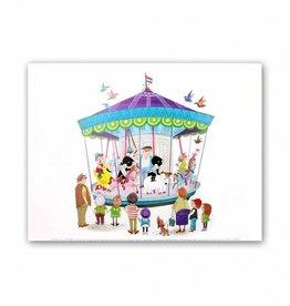Art Unlimited Jip en Janneke Poster, 'Carousel', 30 x 40 cm