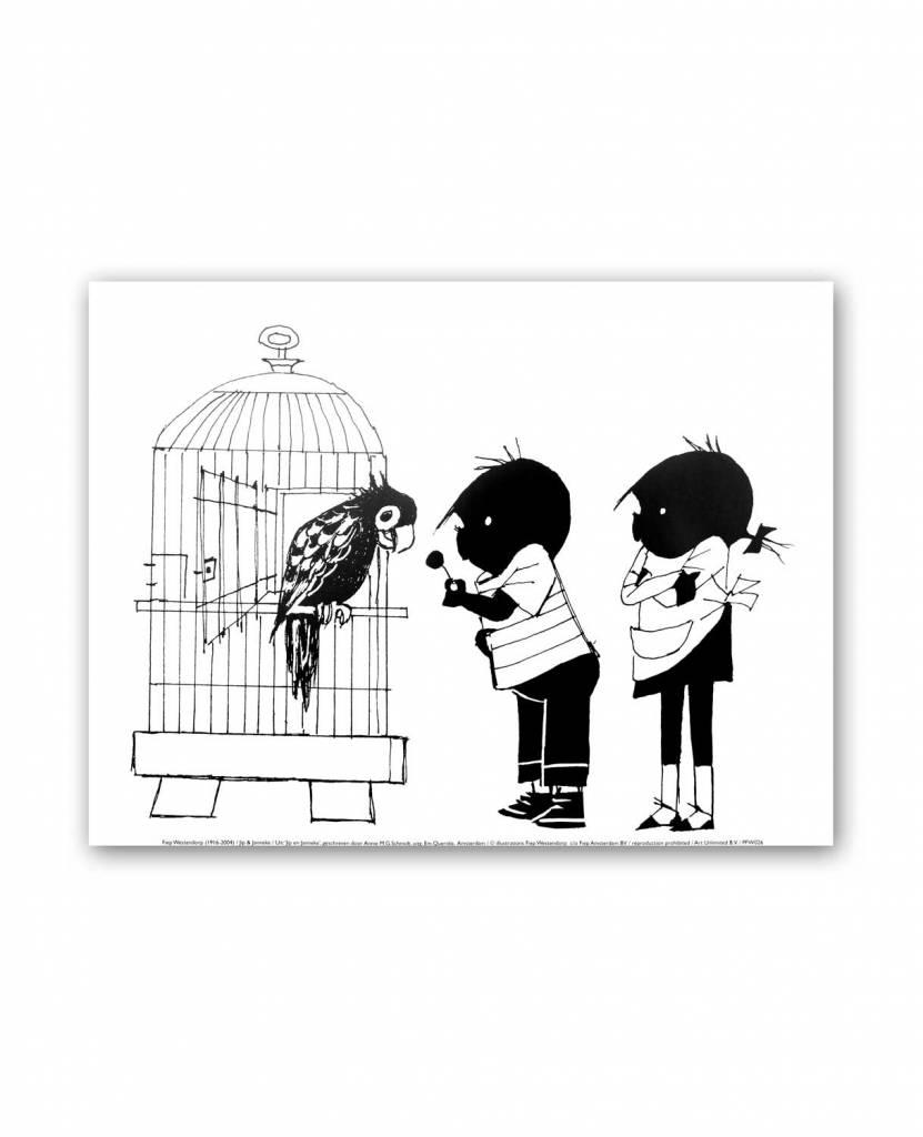 Art Unlimited Jip en Janneke Poster, 'Parrot', 30 x 40 cm