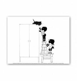Art Unlimited Jip en Janneke Poster, 'Siepie op de kast', 30 x 40 cm