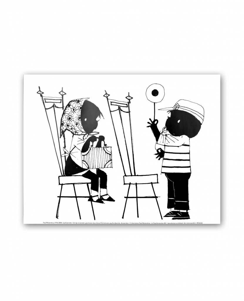 Art Unlimited Jip en Janneke Poster, 'Treintje spelen', 30 x 40 cm