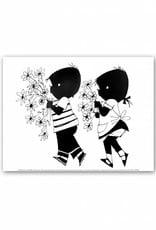 Art Unlimited Jip en Janneke Poster, 'Bloemen', 30 x 40 cm