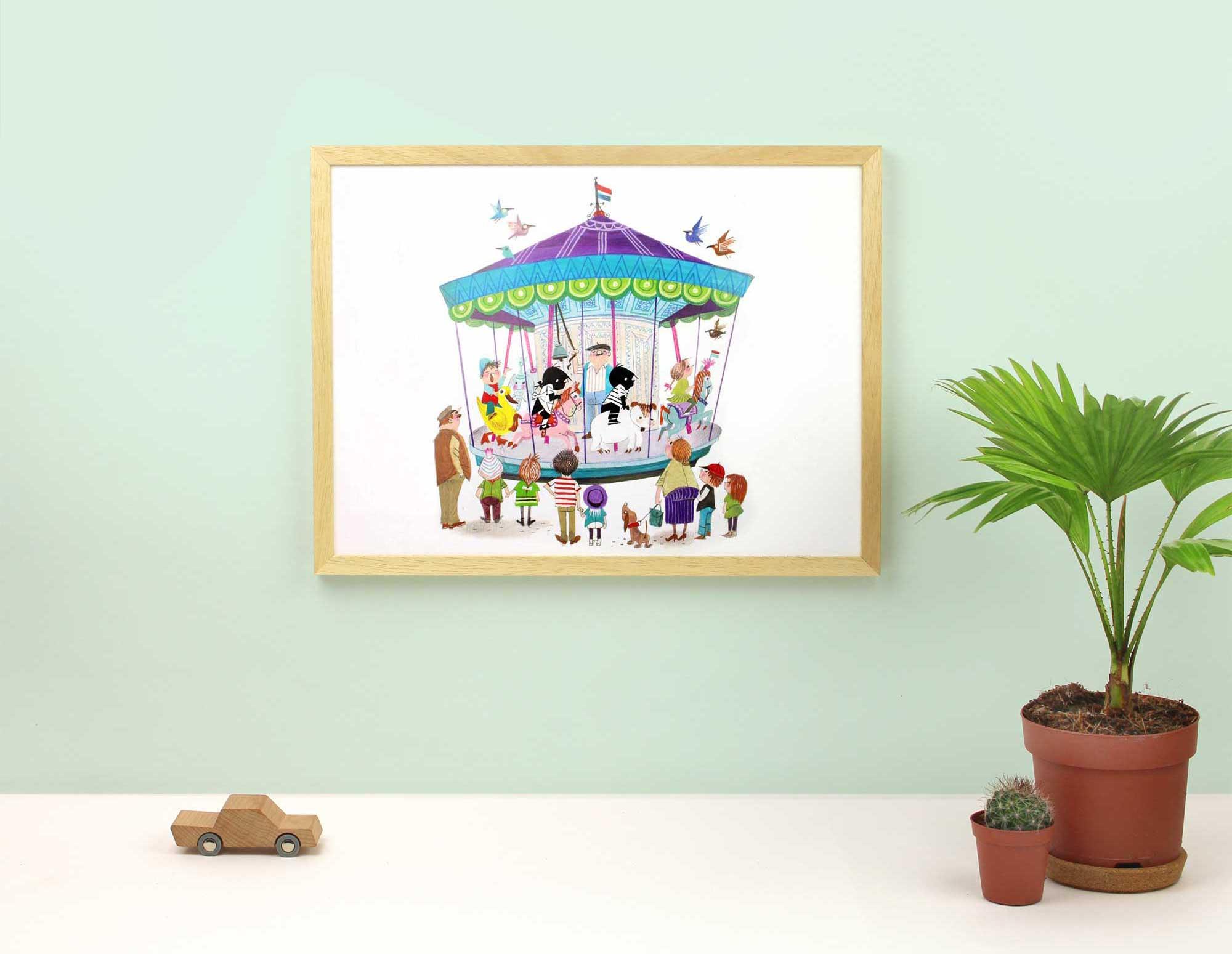 Jip en Janneke Poster ingelijst houten lijst kinderkamer