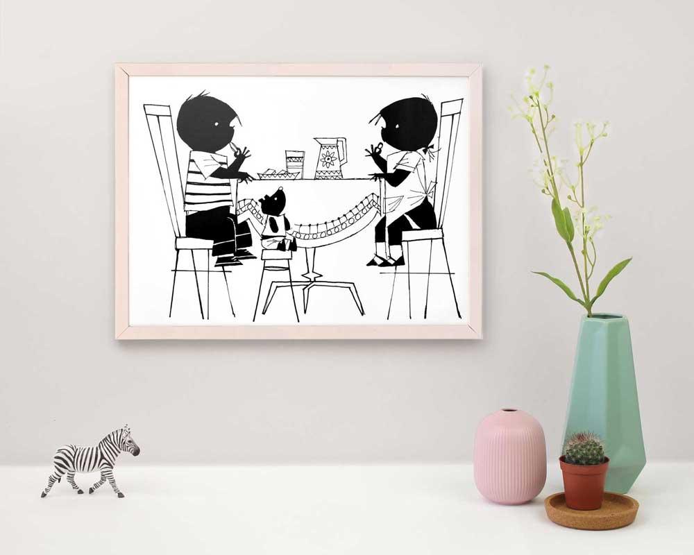 Jip en Janneke poster ingelijst houten wissellijst kinderkamer posters