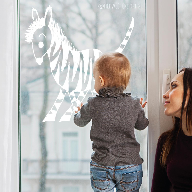zebra raam tekening fiep westendorp