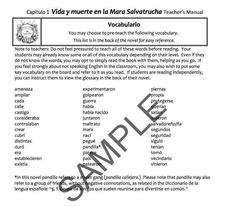 Vida y muerte en la Mara Salvatrucha - Teacher's Guide on CD