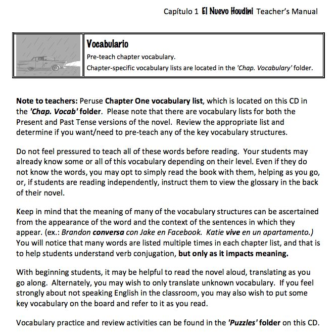 El nuevo Houdini - Teacher's Guide on CD