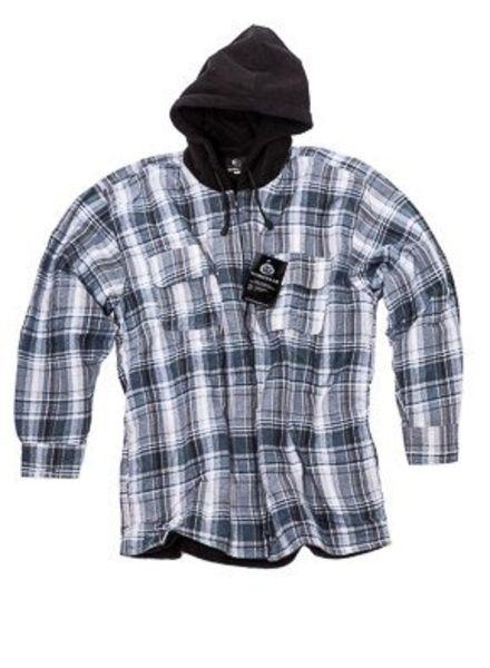 Thermo shirt fleece voering en fleece capuchon