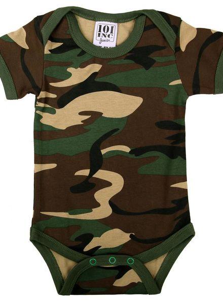 Camouflage Baby romper met mouw