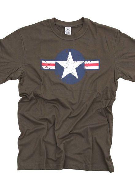 T-shirt WW II Groen