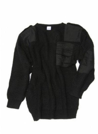 Commando trui acryl zwart