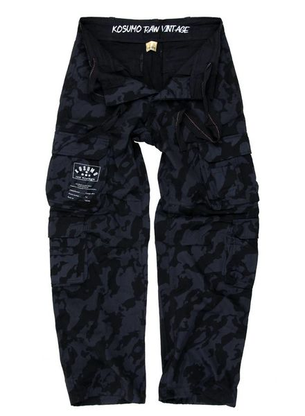 Broek LANG stone washed KOSUMO Night Camo