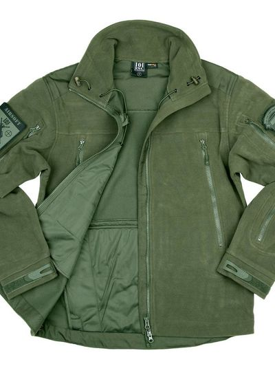 Heavy duty fleece vest Groen