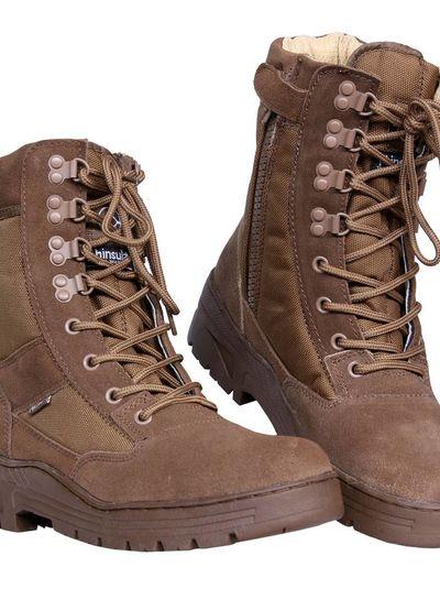 Pr. sniper boots with YKK zipper Coyote