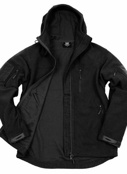 Hexagon fleece vest zwart