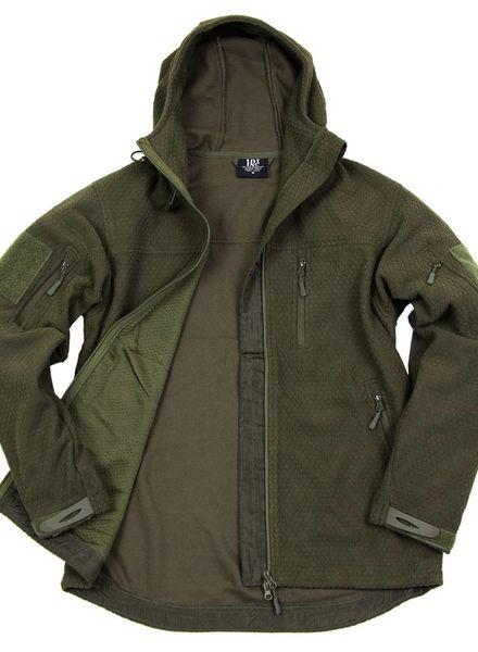 Hexagon fleece vest Groen