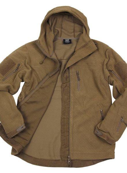 Hexagon fleece vest Coyote