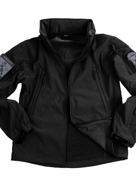 Soft shell jack tactical Zwart