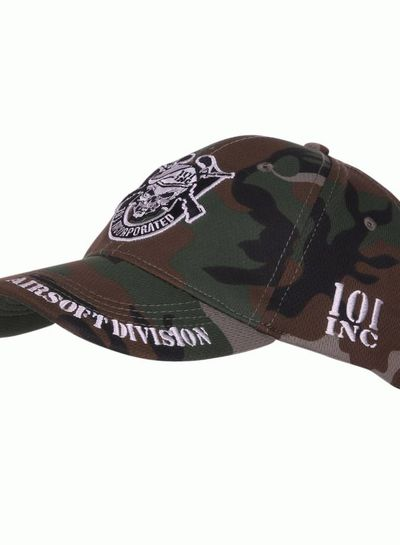 Baseball cap 101 INC Airsoft division woodland