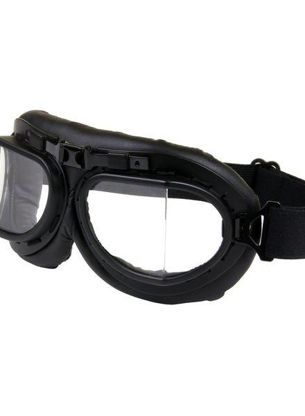 Motorbril zwart RAF