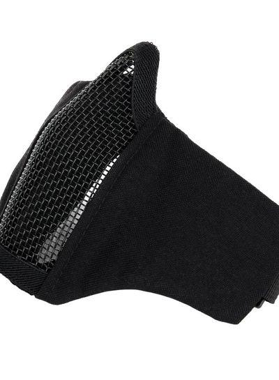 Airsoft face mask nylon/mesh zwart
