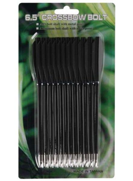 "MK-PL-BK plastic pijl 6,5"" zwart (12stuks)"