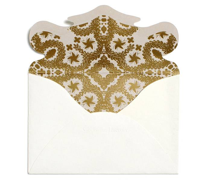 Christian Lacroix Correspondence Cards - Oro y Plata