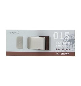 Midori Traveler's Notebook Pen Holder (s) 015 - Brown/Black