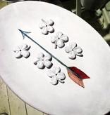 Astier de Villatte John Derian Oval Platter - Arrow