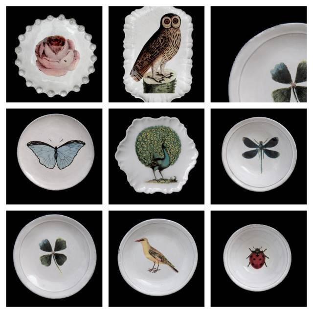 Astier de Villatte John Derian Schaaltje - Roos met Insect