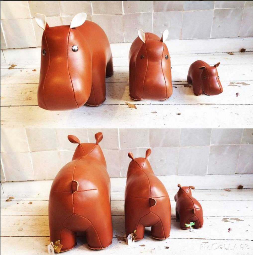 Zuny Bookend Hippo - Tan