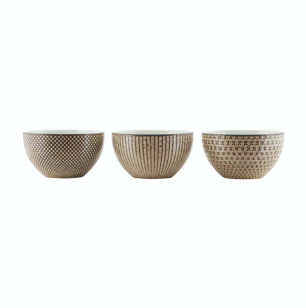 House Doctor Bowls Geo set of 3