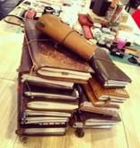 Midori Traveler's Notebook Leer - Zwart