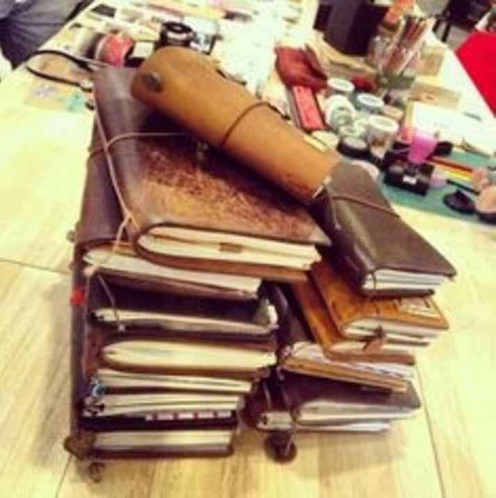 Midori Traveler's Notebook Leer - Bruin