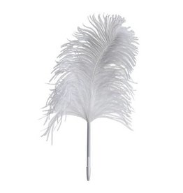 Maison Margiela Feather Pen Ostrich - White