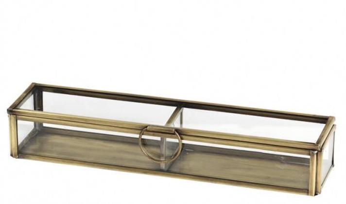 Broste Doos - Glas/Messing 2 Vakken