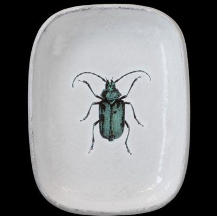 Astier de Villatte John Derian Schaal - Groen Insect