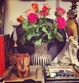 Vase - Black/White Stripes