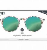 Let Me See Zonnebril - Schildpad Groene Spiegelglazen #D